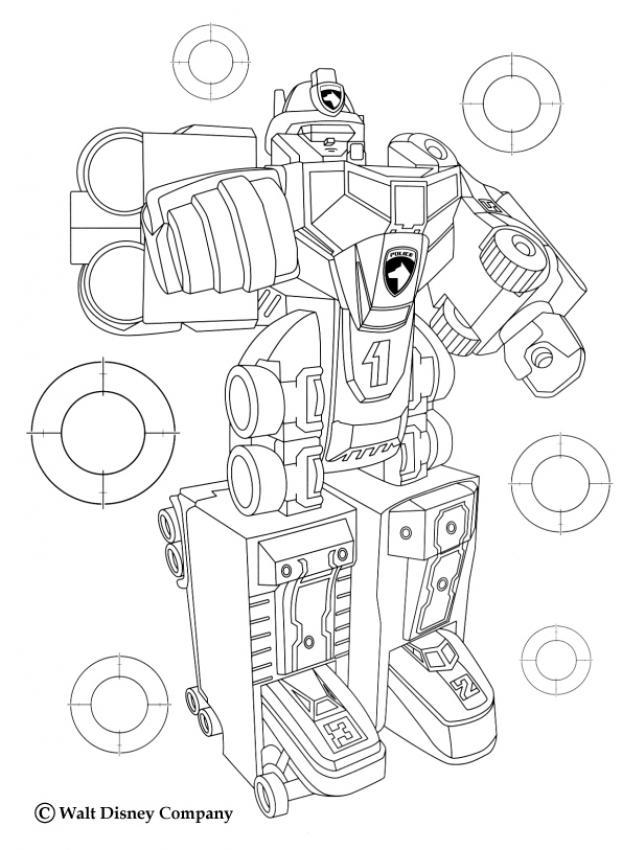 coloriage power rangers le robot megazord azcoloriage.com