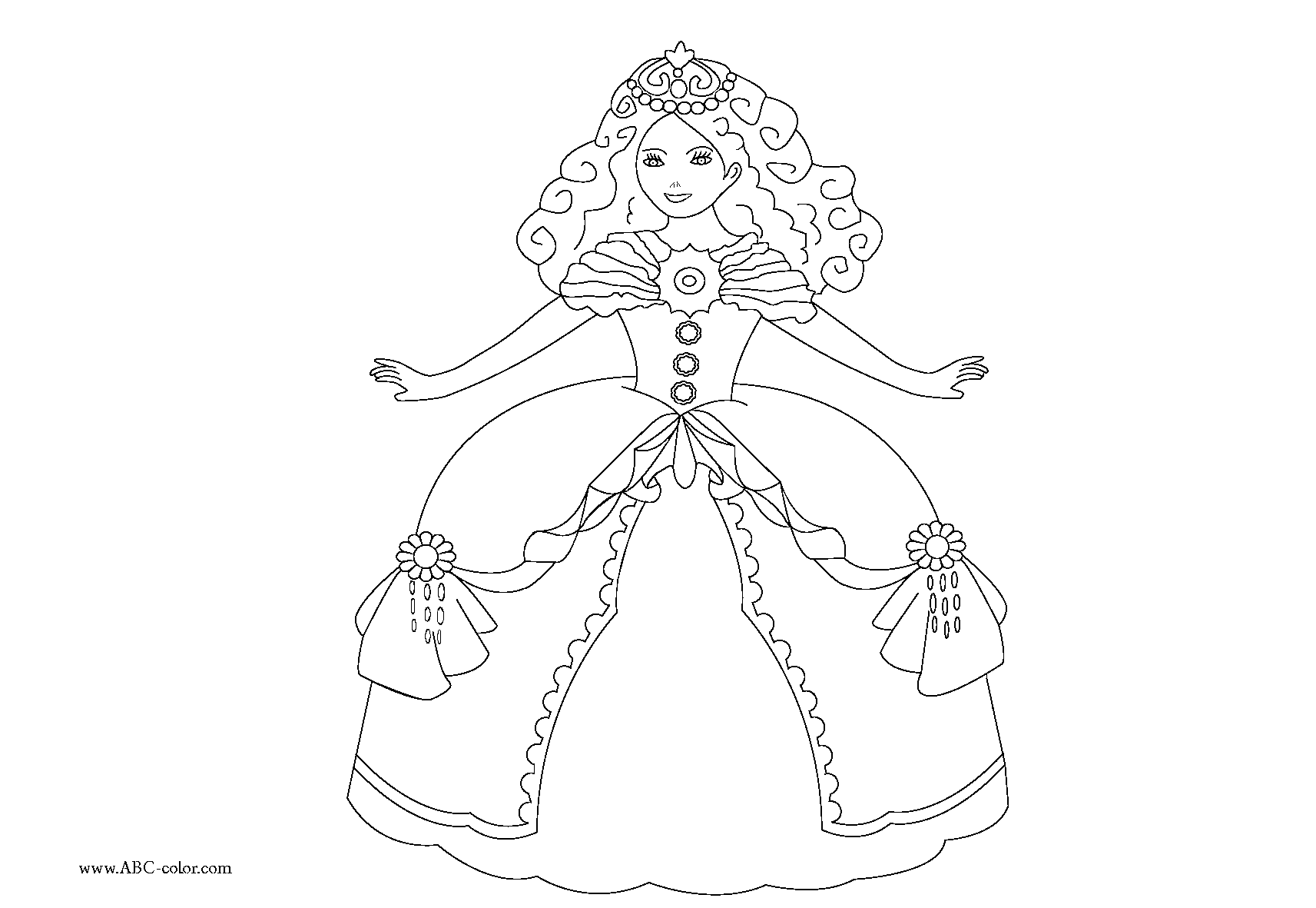 142 dessins de coloriage princesse imprimer sur. Black Bedroom Furniture Sets. Home Design Ideas