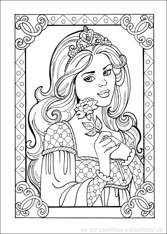 142 Dessins De Coloriage Princesse A Imprimer Sur Laguerche Com Page 2
