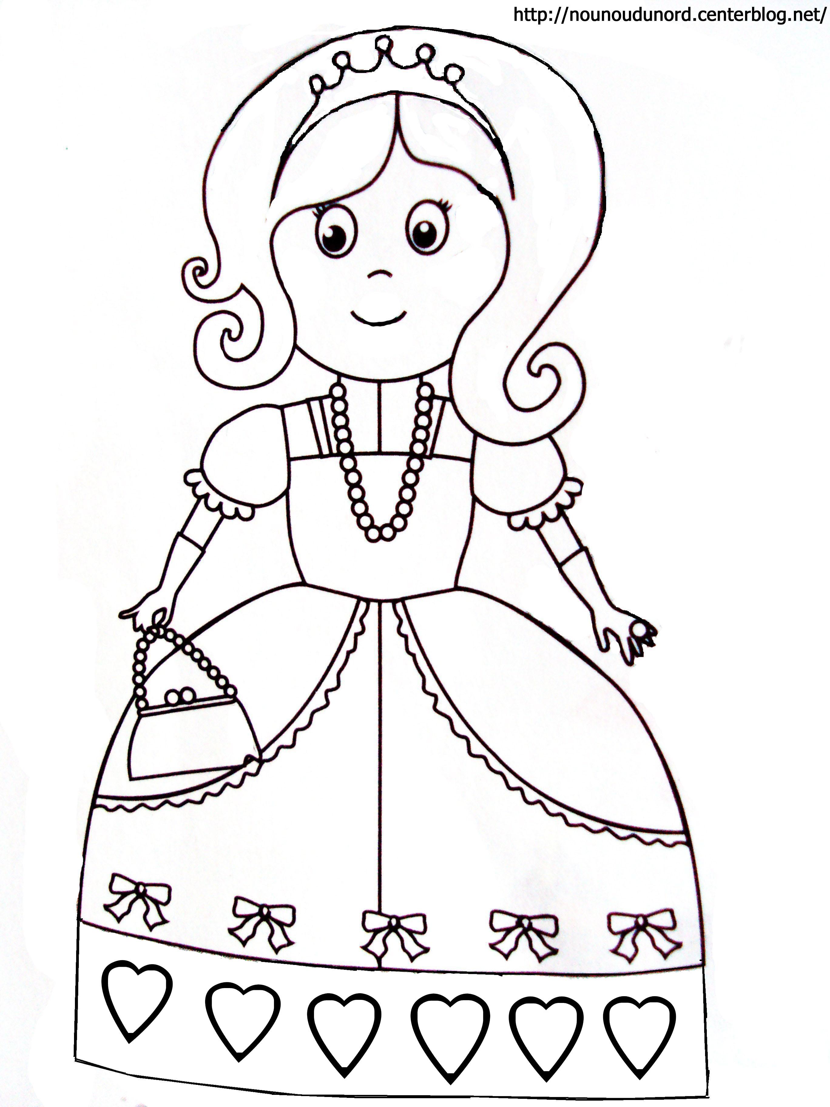Coloriage princesse gratuit dessin a imprimer 13