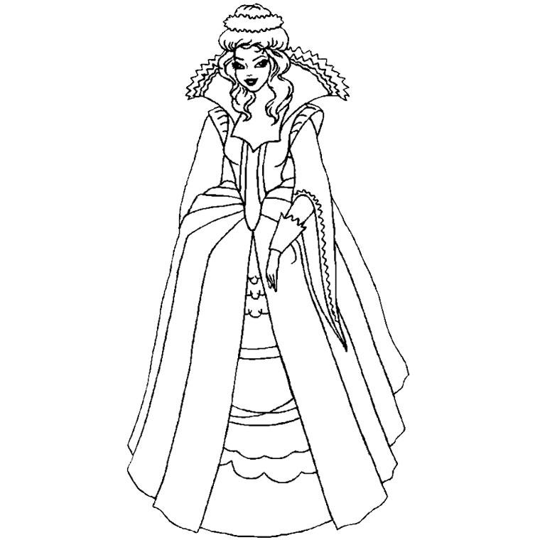 coloriage princesse gratuit dessin a imprimer 163