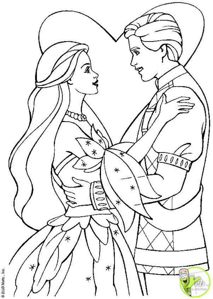 142 dessins de coloriage princesse imprimer sur - Prince et princesse dessin ...