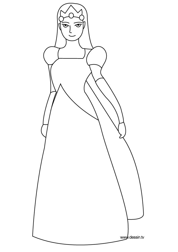 142 dessins de coloriage princesse imprimer sur - Coloriage robe de princesse ...