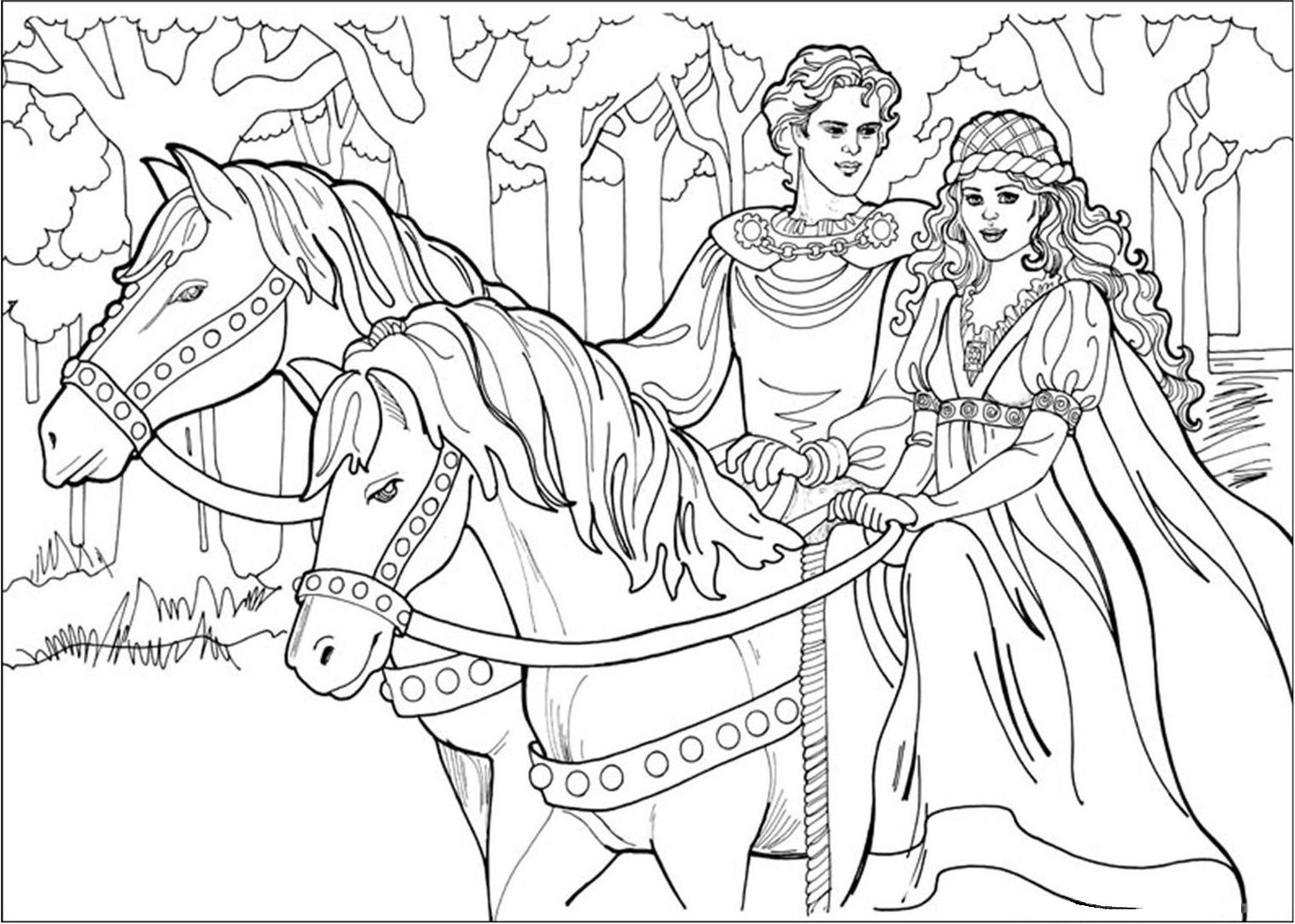 coloriage princesse gratuit dessin a imprimer 26