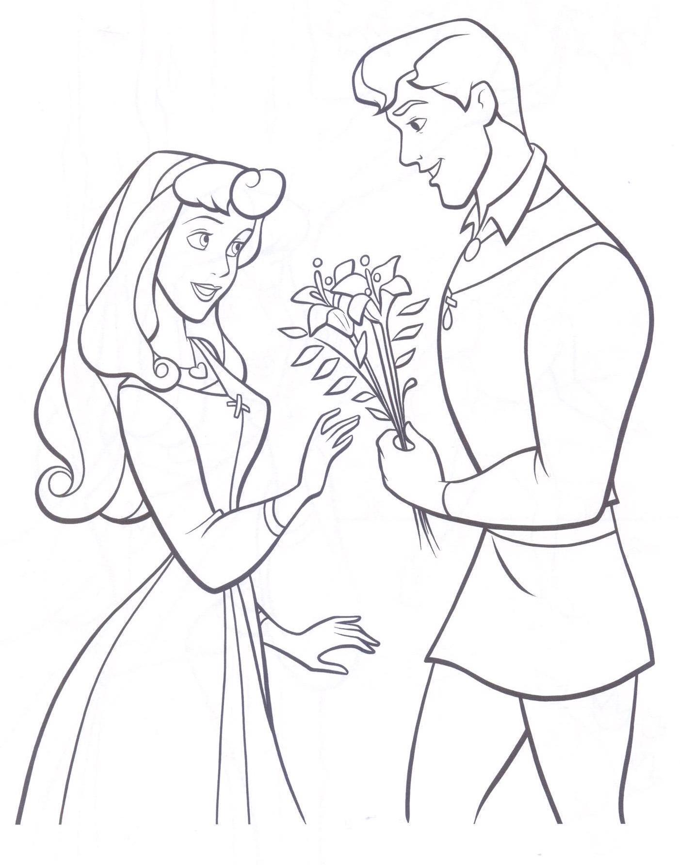 Élégant Dessin Prince Et Princesse A Imprimer