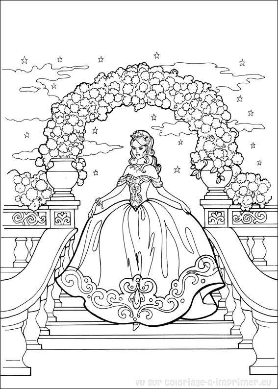 coloriage princesse gratuit dessin a imprimer 29 - Coloriage Princesses