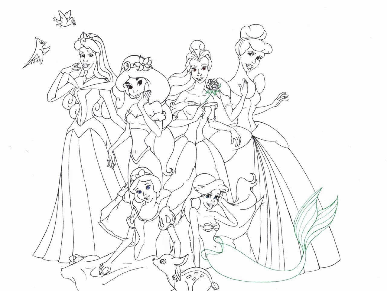 coloriage princesse gratuit dessin a imprimer 31