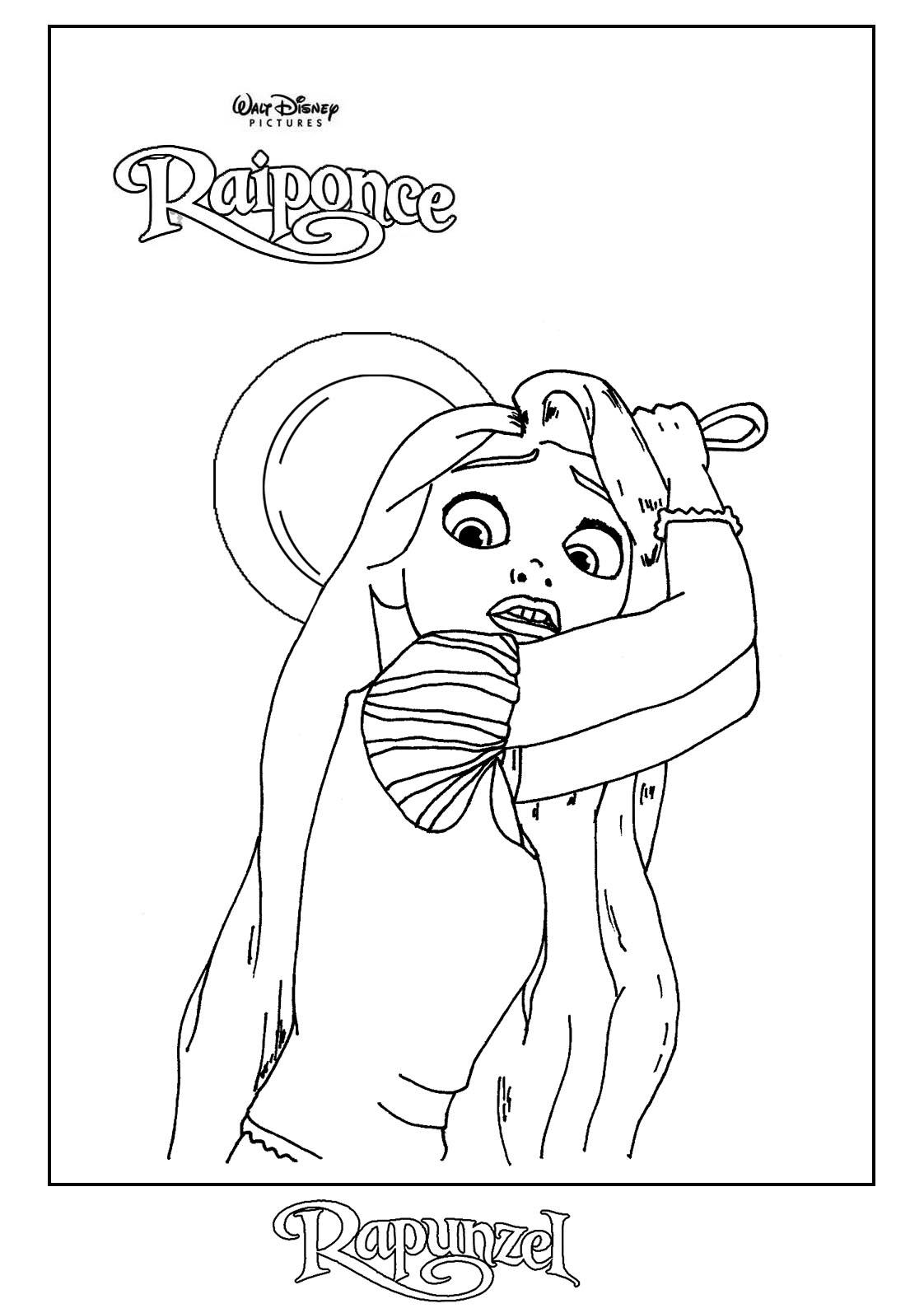 dessin 12077 dessin de raiponce a colorier et imprimer