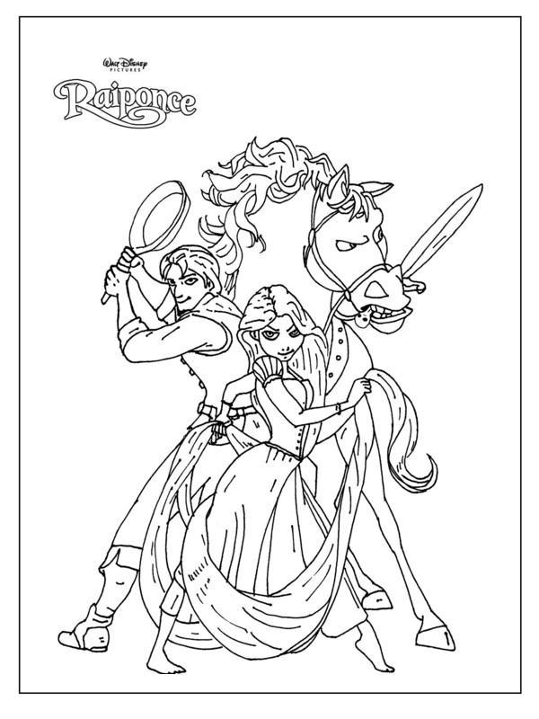 dessin 12103 dessin gratuit de raiponce a imprimer et colorier