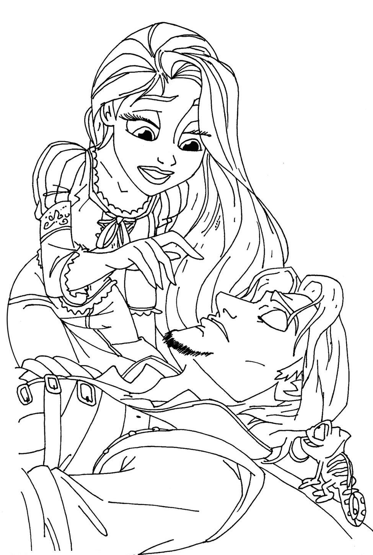dessin 12081 coloriage raiponce - Coloriage Raiponce Imprimer Gratuit