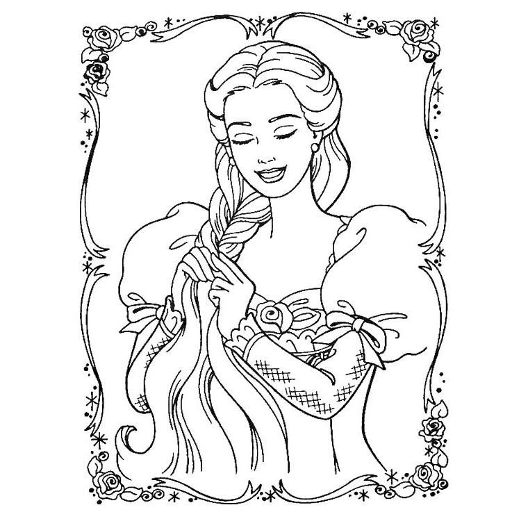 dessin 12092 coloriage de raiponce gratuit imprimer et colorier