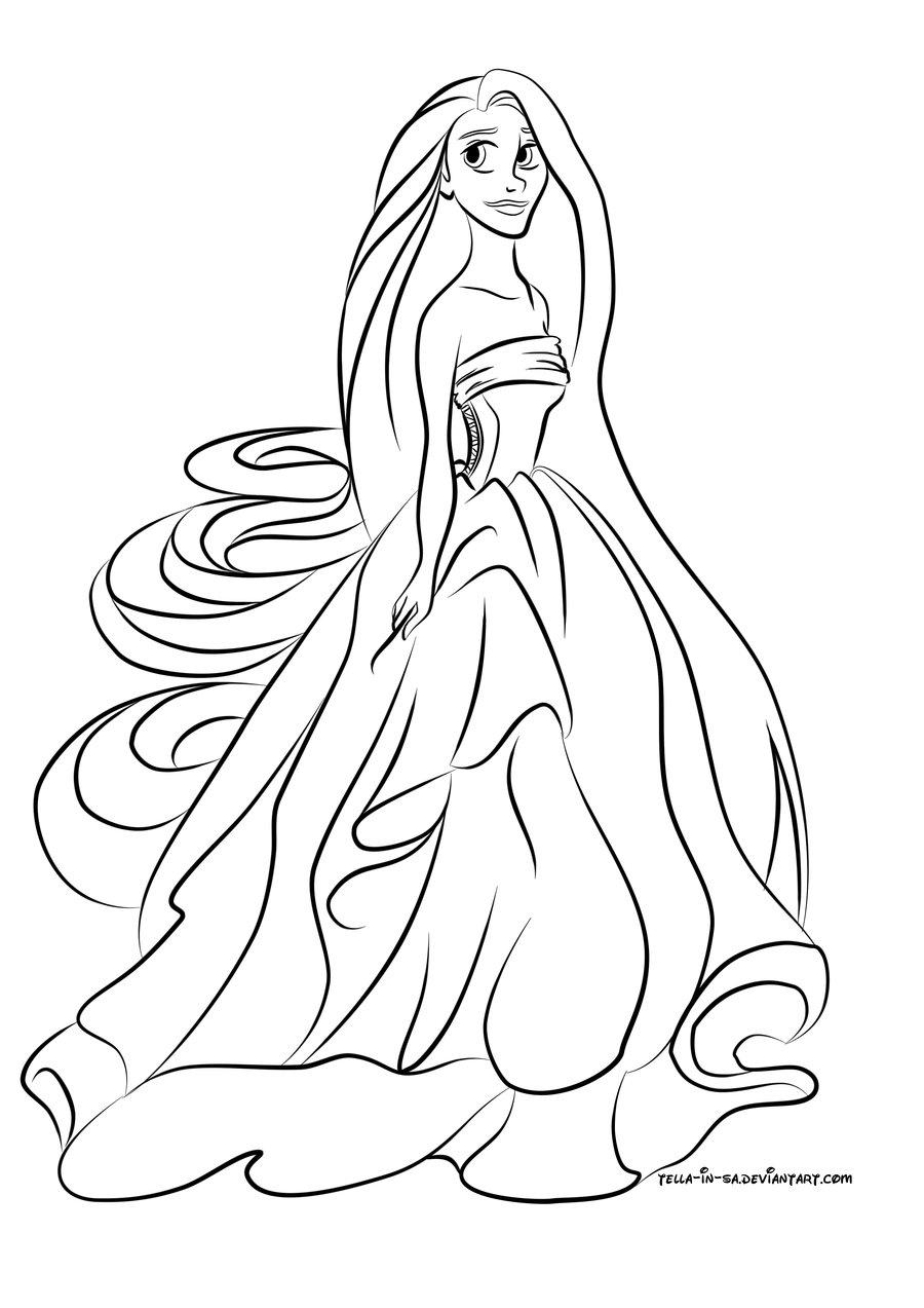 S lection de dessins de coloriage raiponce imprimer sur - Raiponce dessin anime ...