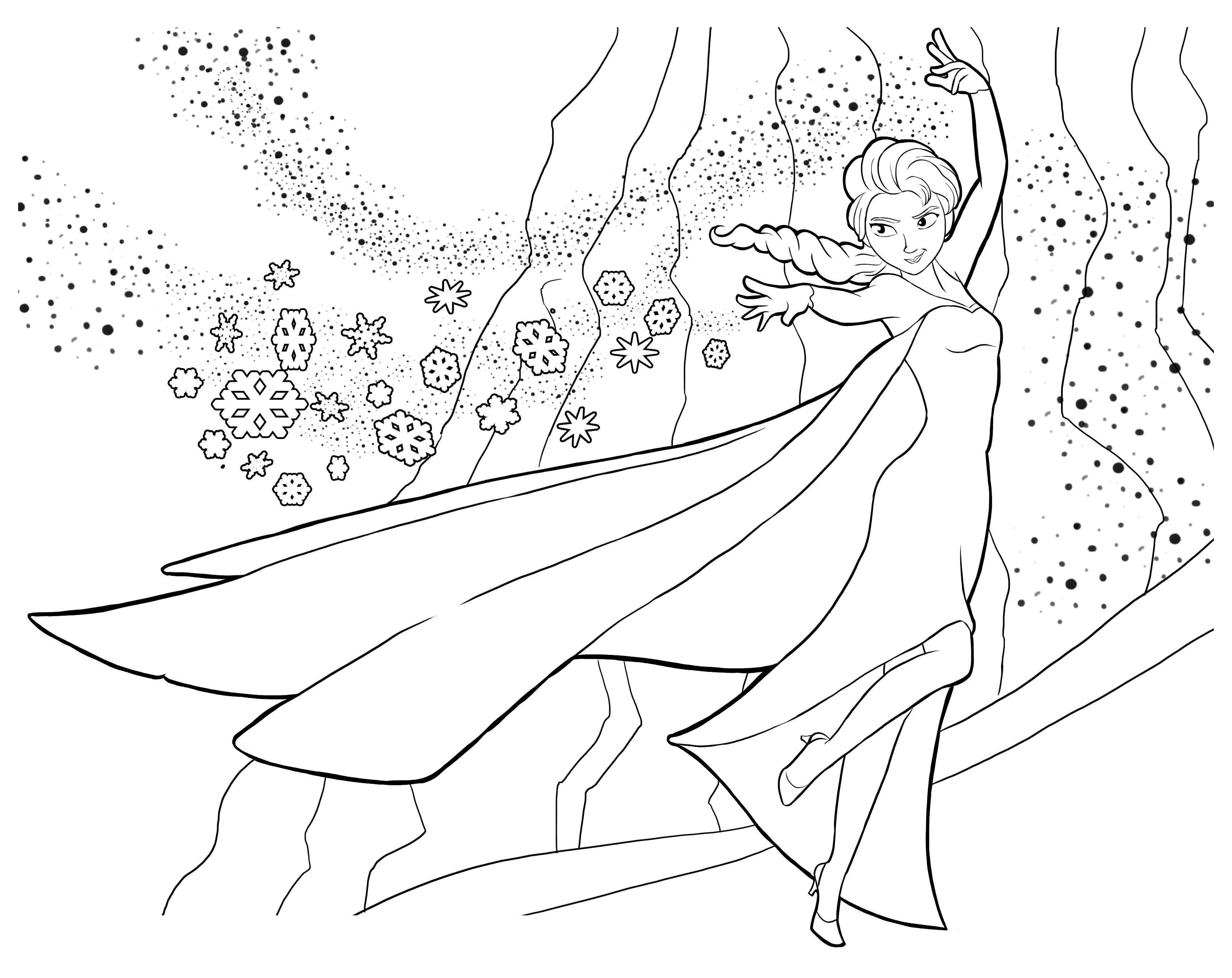 Coloriage reine des neiges gratuit dessin a imprimer 14