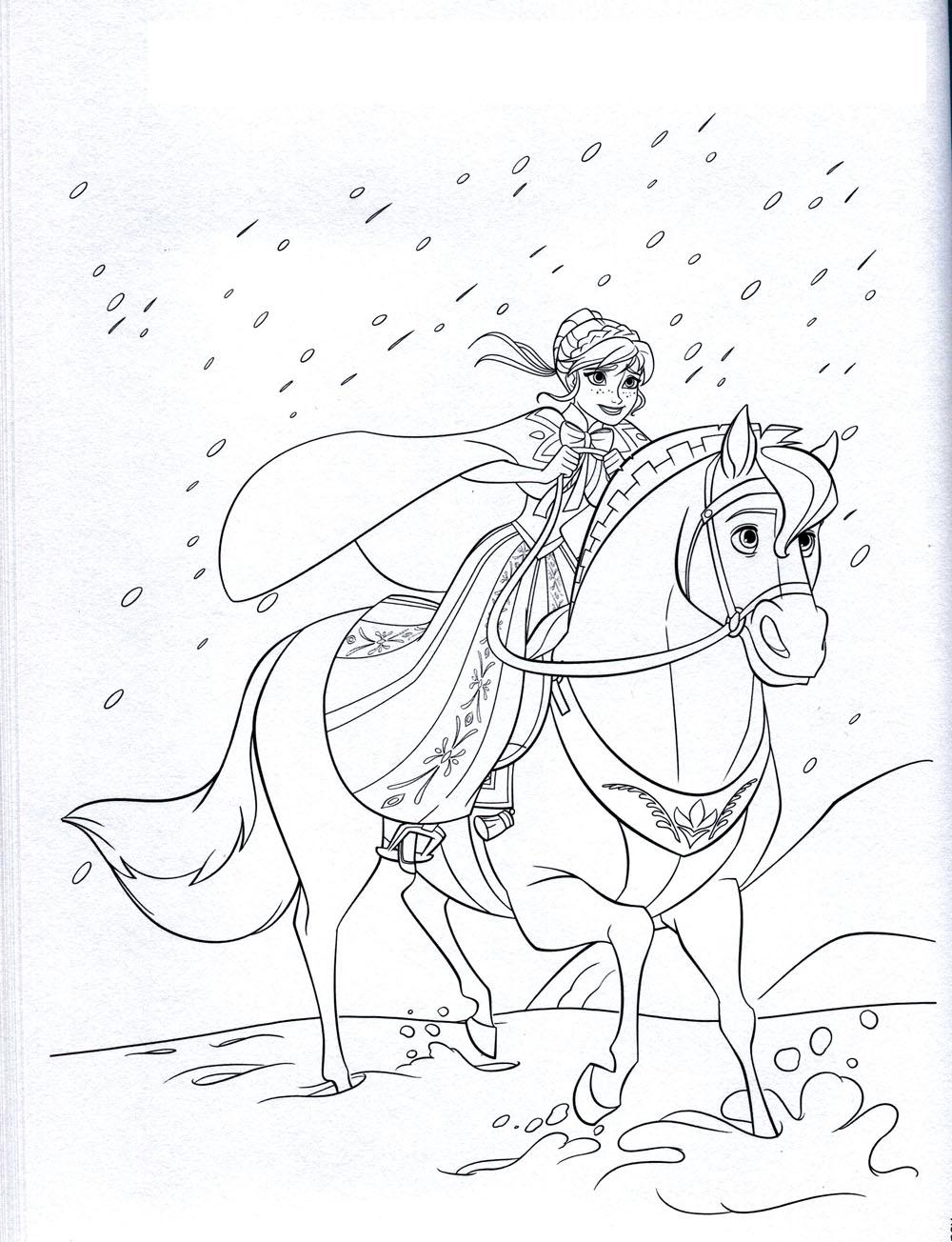 coloriage reine des neiges gratuit dessin a imprimer 18