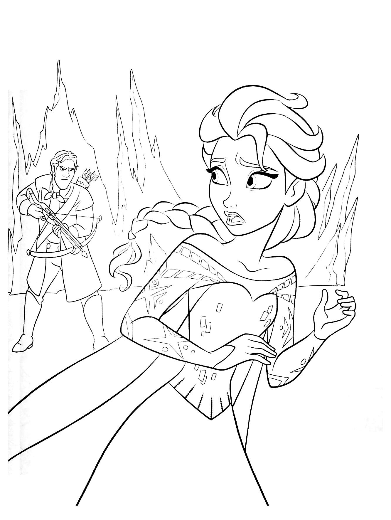 coloriage reine des neiges gratuit dessin a imprimer 242