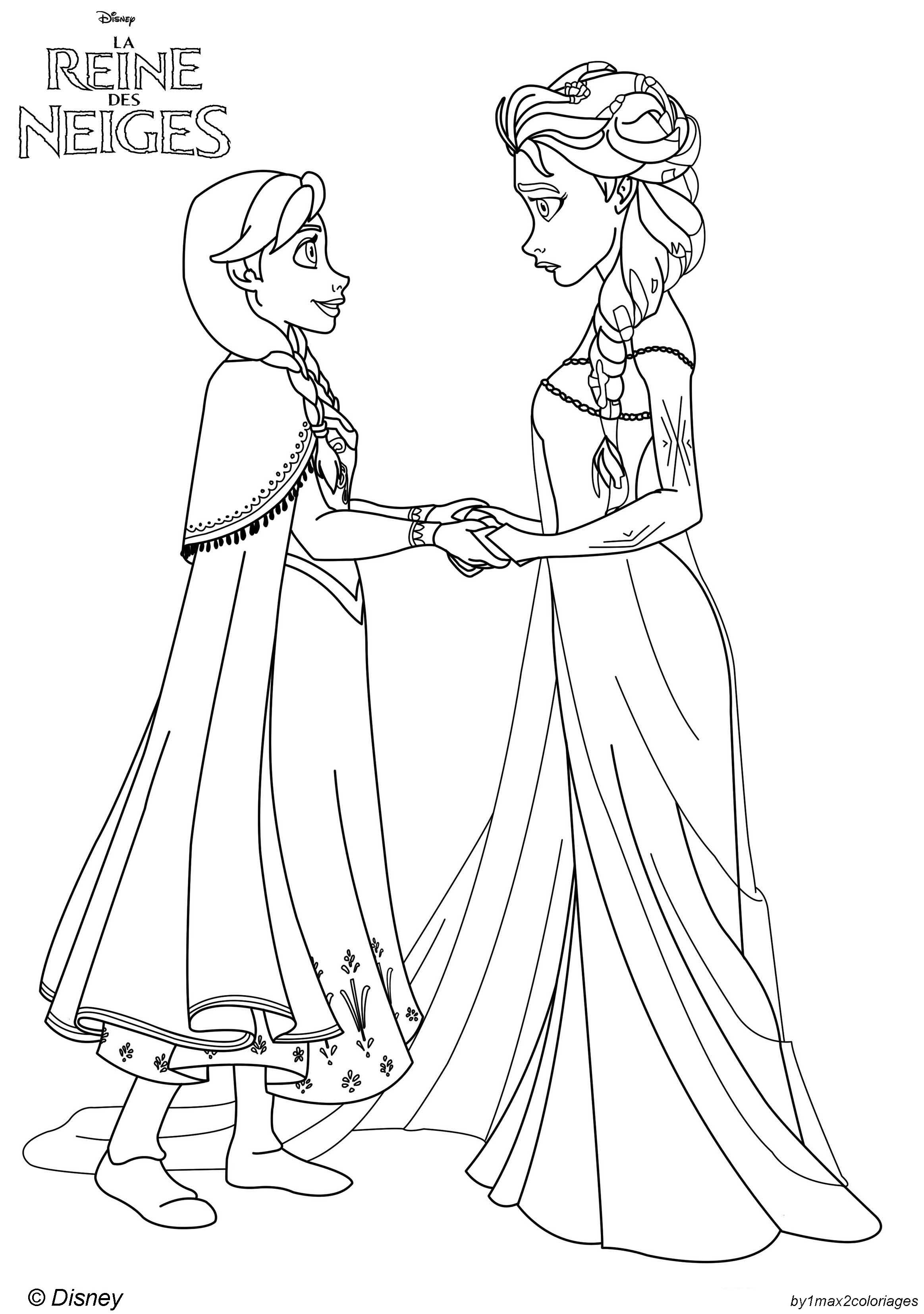 coloriage reine des neiges gratuit dessin a imprimer 4 - Reine Des Neiges Gratuit