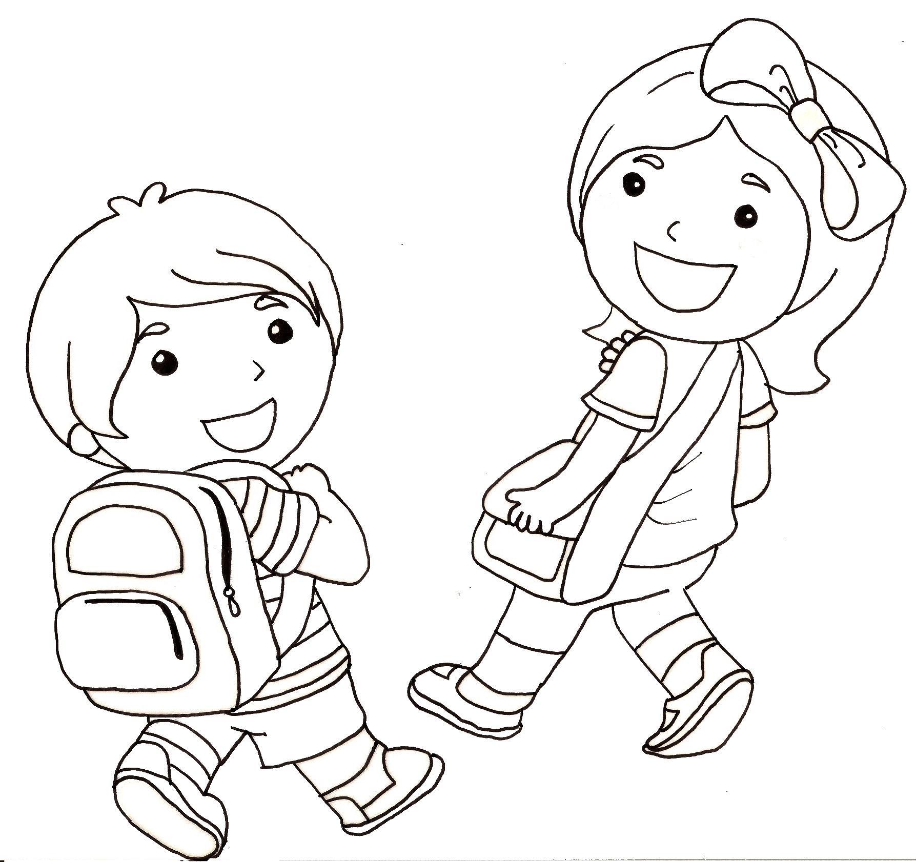Nouveau image a colorier pour la rentree scolaire - Dessin rentree ...