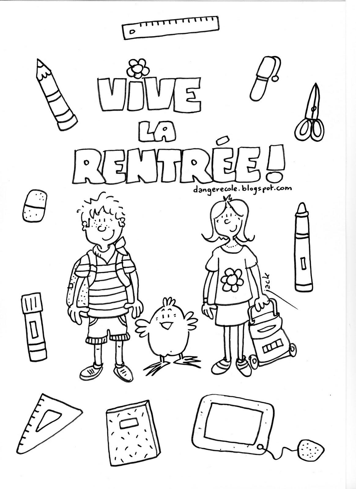 46 Dessins De Coloriage Rentree Maternelle A Imprimer Sur Laguerche