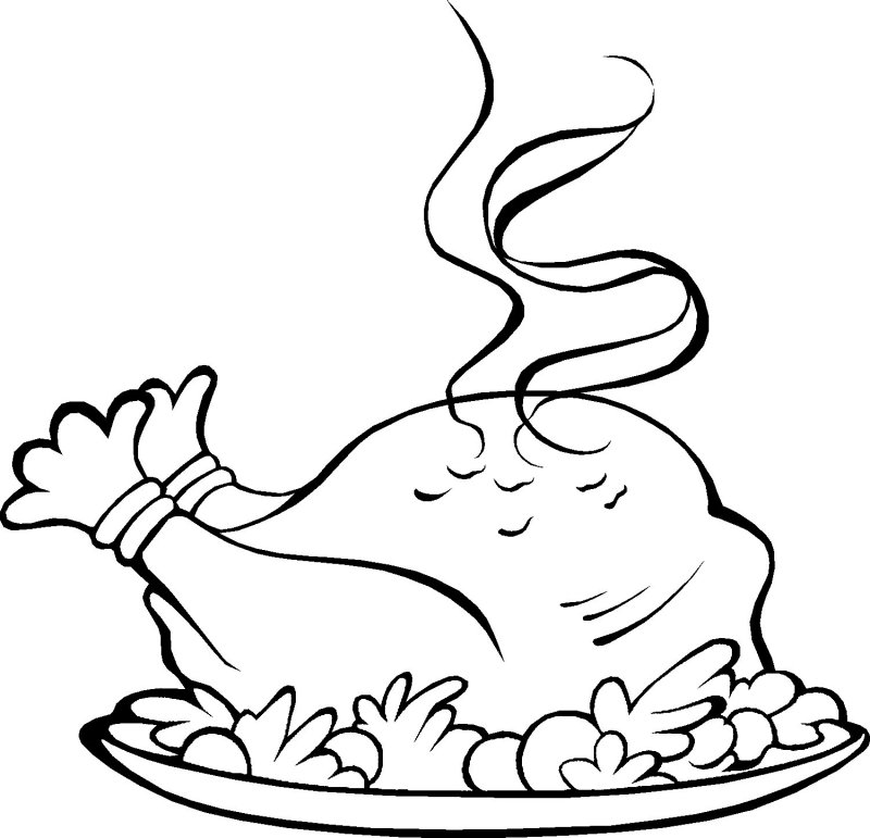 kaboose coloring pages thanksgiving meal - photo #6
