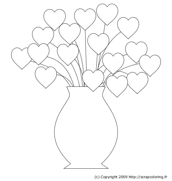 63 dessins de coloriage rose et coeur imprimer sur - Dessiner un bisou ...