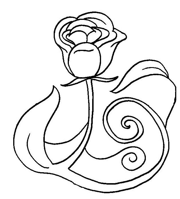 63 dessins de coloriage rose et coeur imprimer sur - Coloriage rose ...