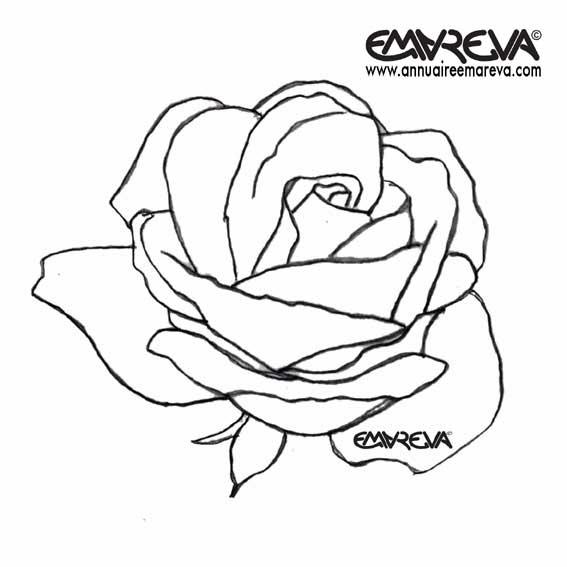 63 dessins de coloriage rose et coeur imprimer sur page 3 - Dessin de rose rouge ...