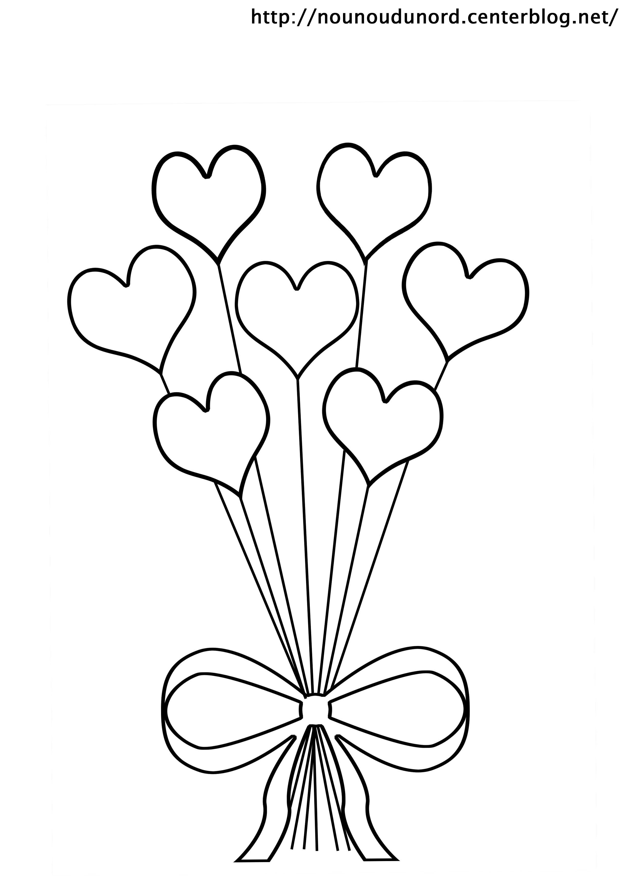 63 dessins de coloriage rose et coeur imprimer sur - Coeur en dessin ...