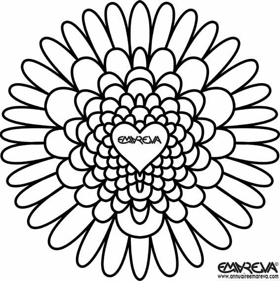 63 dessins de coloriage rose et coeur imprimer sur page 4 - Image de coeur a colorier ...