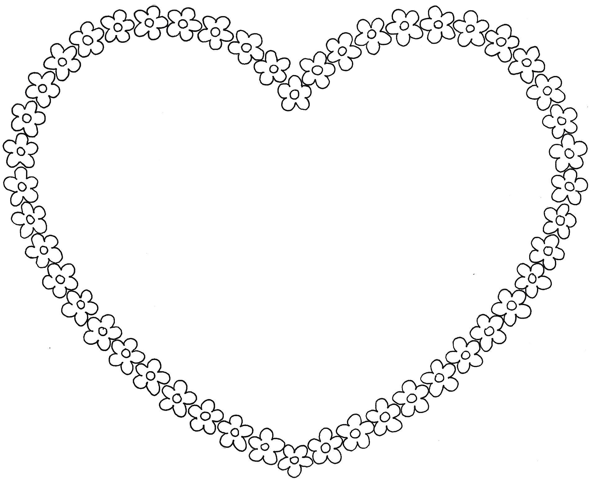 63 dessins de coloriage rose et coeur imprimer sur for Coeur couronne et miroir apollinaire