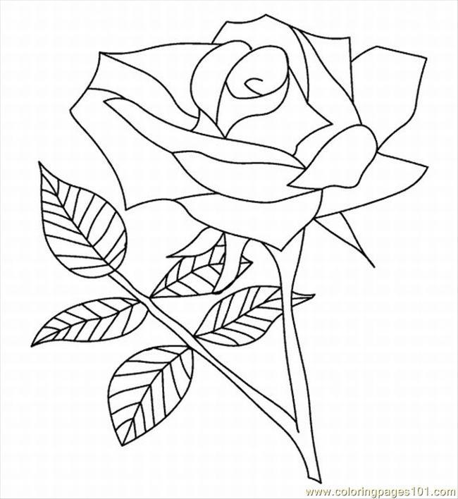 Souvent 57 dessins de coloriage roses à imprimer sur LaGuerche.com - Page 4 RX27