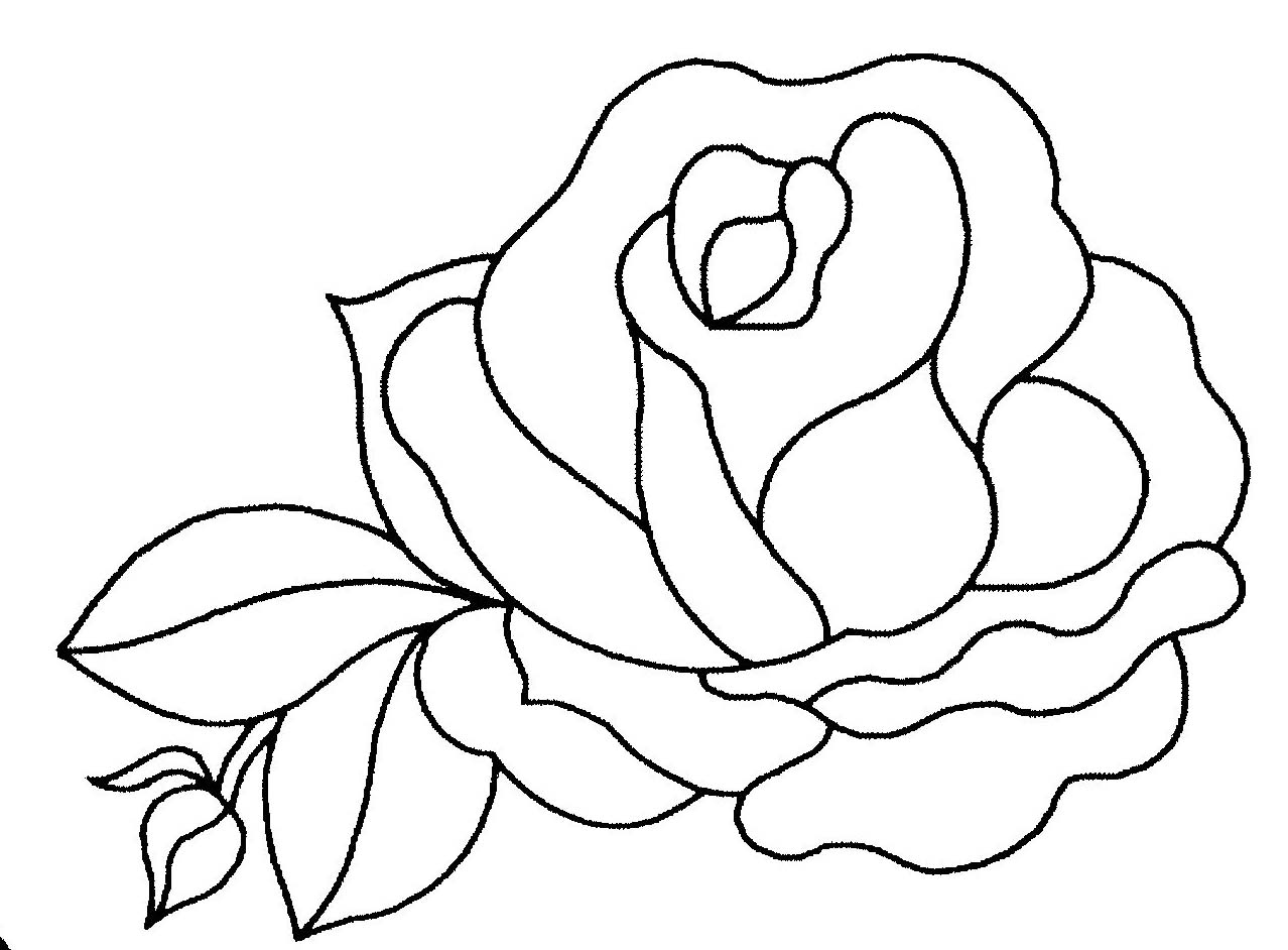 coloriage rose - Dessin De Rose A Imprimer