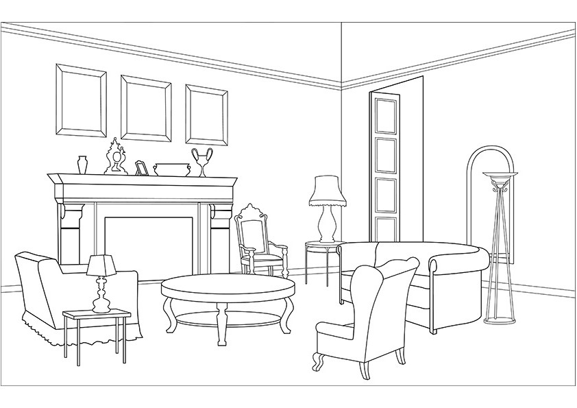 13 dessins de coloriage salle a manger imprimer sur page 1. Black Bedroom Furniture Sets. Home Design Ideas