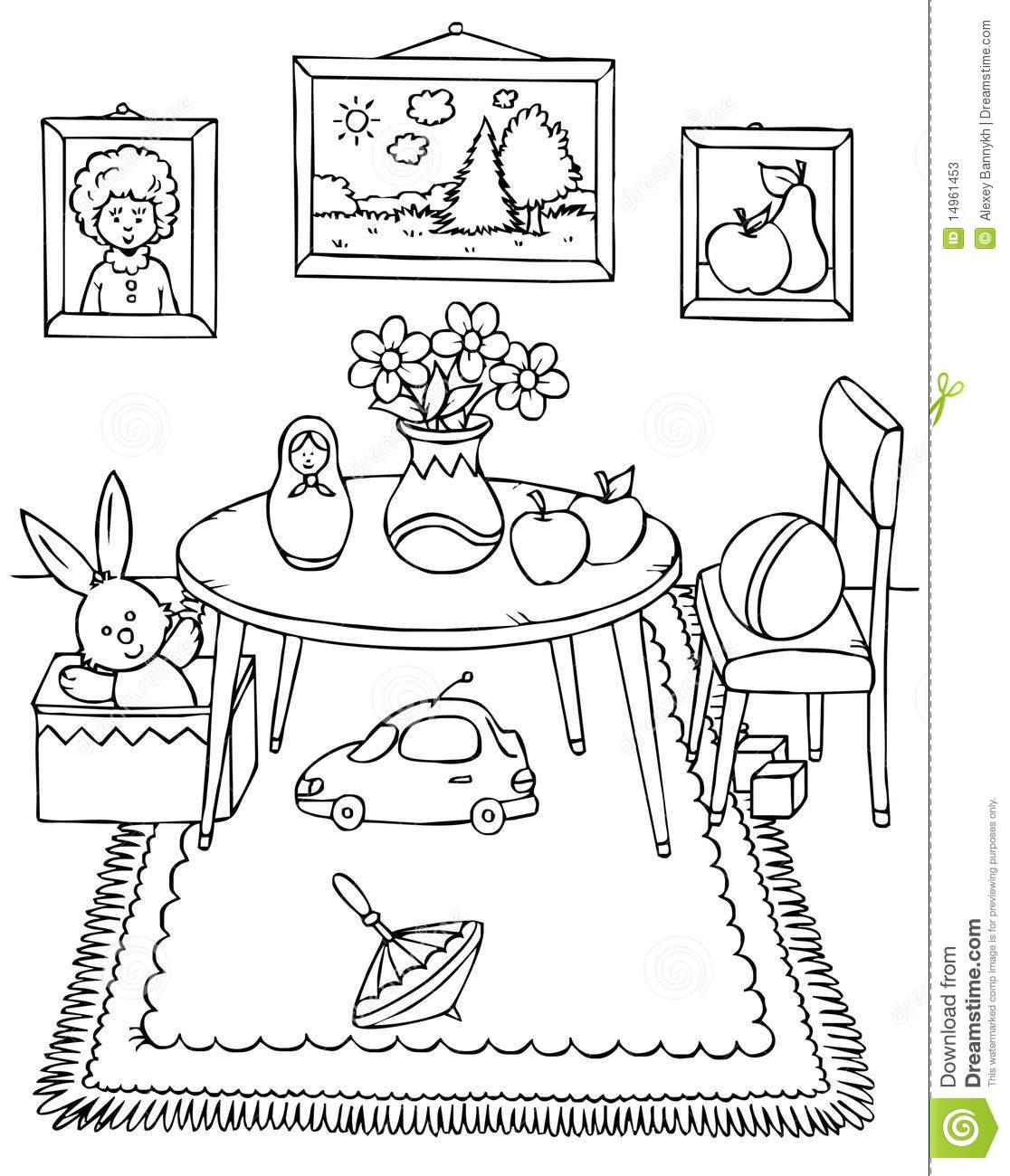 13 dessins de coloriage salle a manger à imprimer sur