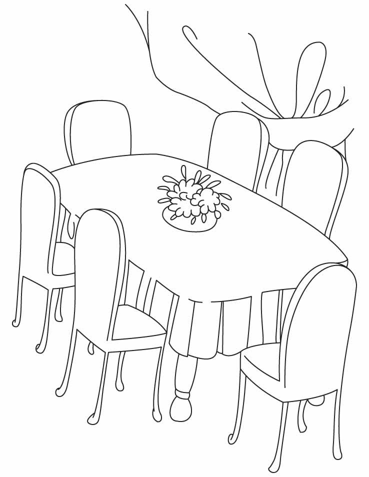 13 dessins de coloriage salle a manger imprimer sur
