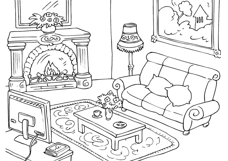 Image #22408 - Coloriage salon gratuit