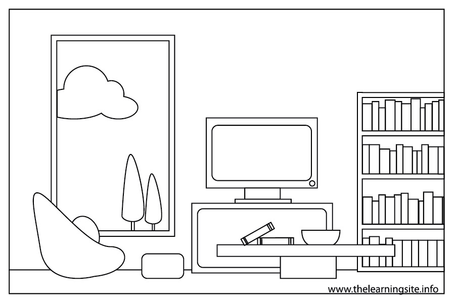 Image #22409 - Coloriage salon gratuit