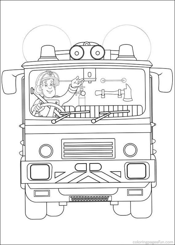 69 dessins de coloriage sam le pompier à imprimer sur