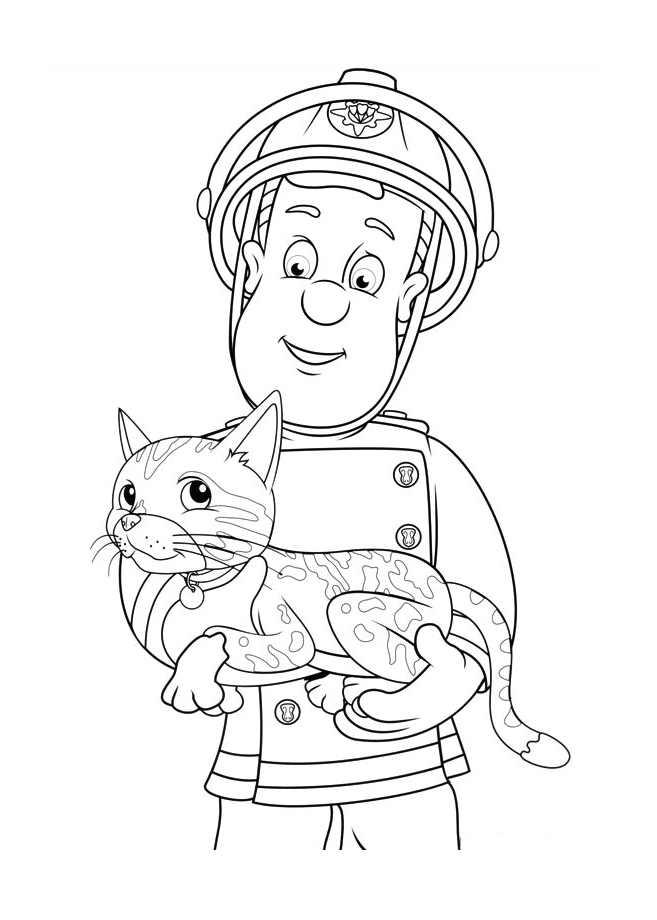 69 dessins de coloriage sam le pompier imprimer sur page 4 - Coloriage de sam le pompier a imprimer ...