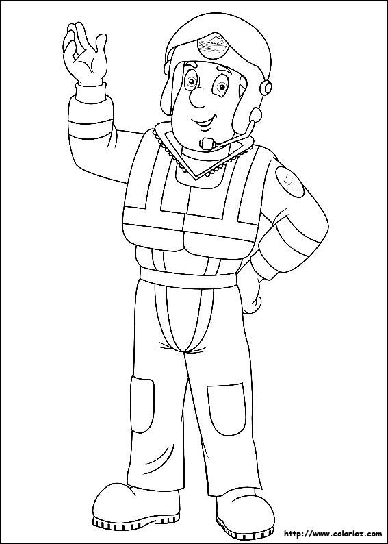 69 dessins de coloriage Sam le pompier à imprimer sur ...