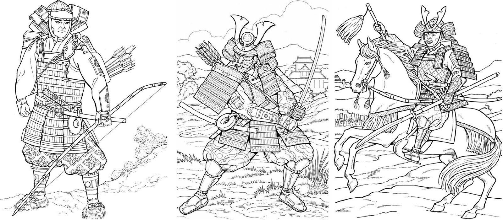31 dessins de coloriage samourai imprimer sur laguerche - Image imprimer gratuit ...