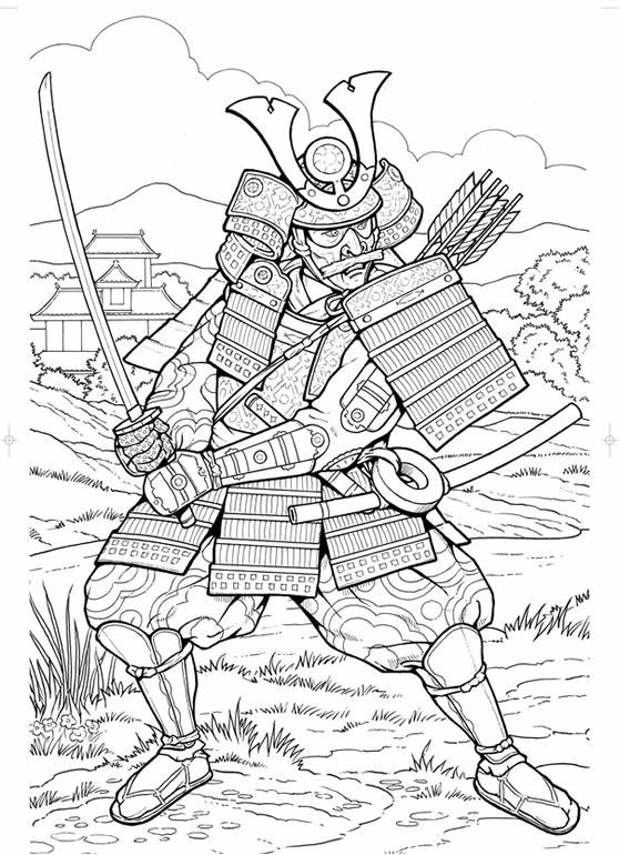 31 dessins de coloriage samourai imprimer sur laguerche - Image coloriage ...