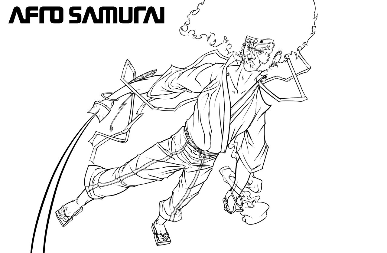 Image Coloriage samourai gratuit