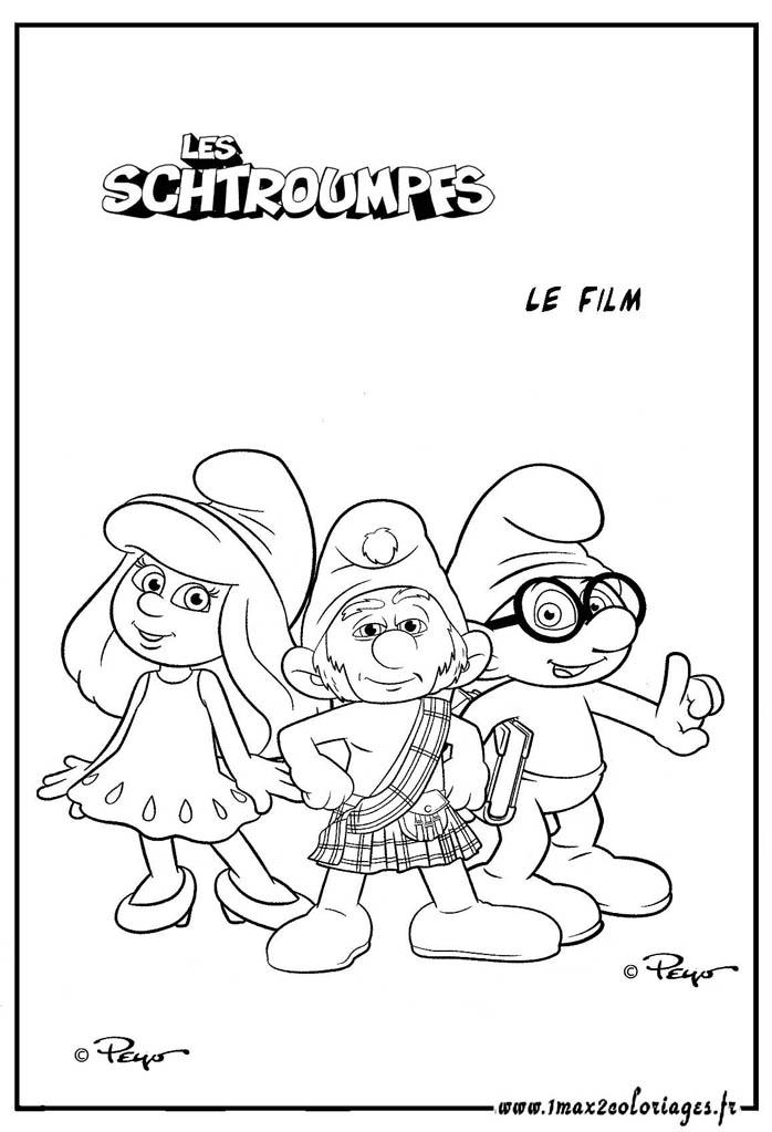 coloriage schtroumpf gratuit dessin a imprimer 197 - Coloriage Schtroumpf