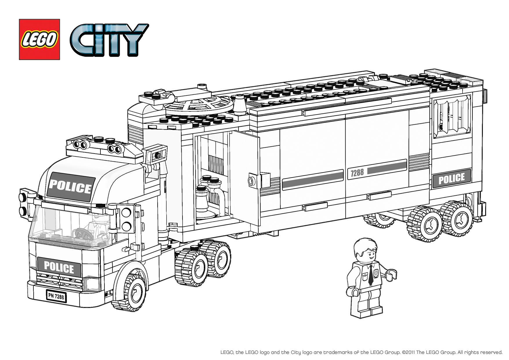 Belle Coloriage Voiture De Police Lego