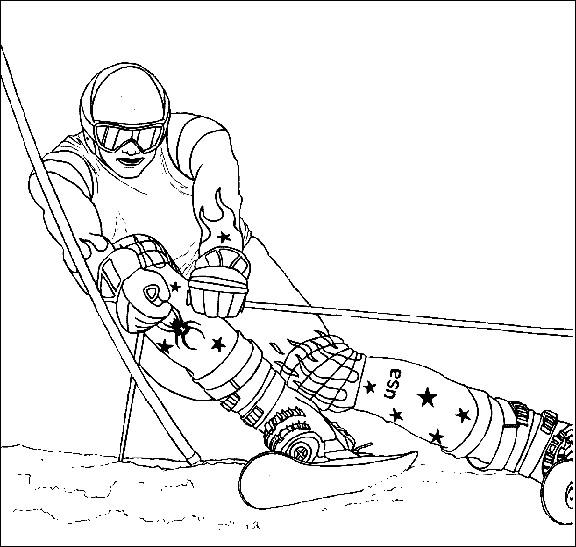 sélection de dessins de coloriage ski à imprimer sur