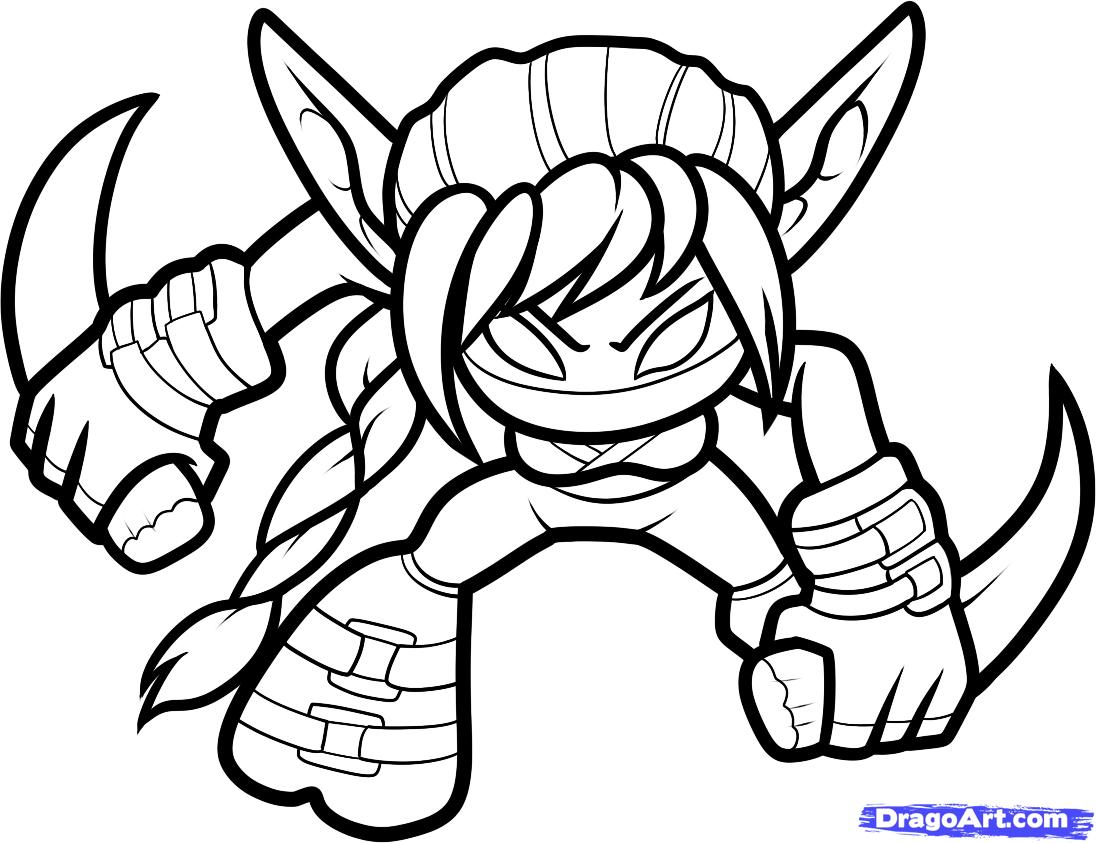 Easy To Color Coloring Pages Skylanders Drawing Unique Printable