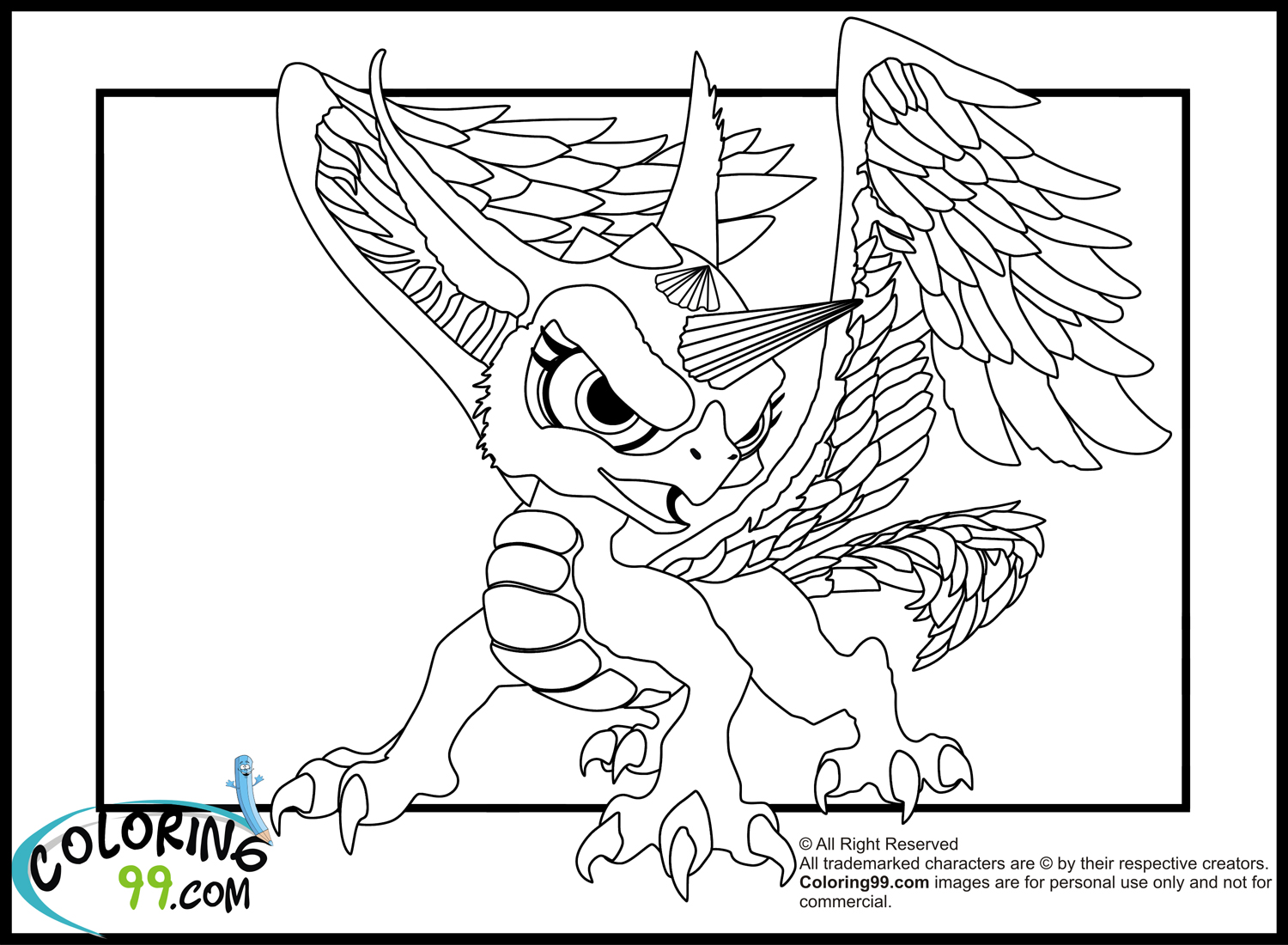 skylander flashwing coloring pages - photo#9
