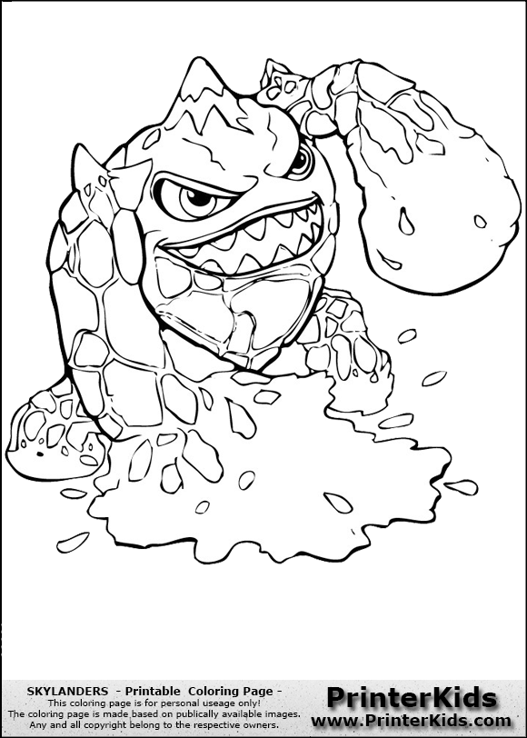 skylanders swashbuckler coloring pages - photo#23