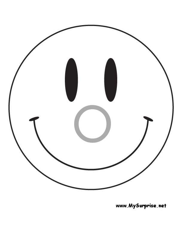 Image #22488 - Coloriage smiley gratuit