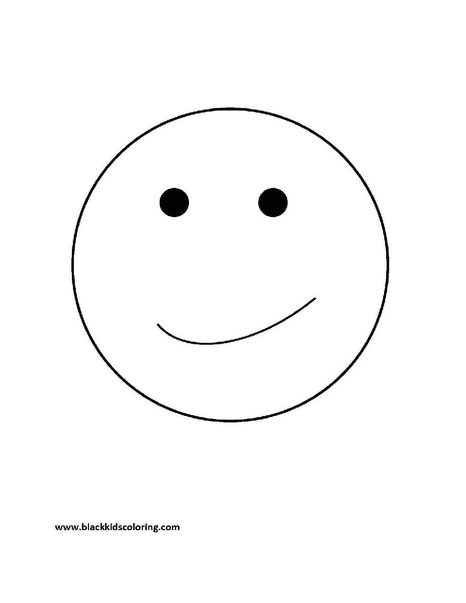 Image Coloriage smiley gratuit